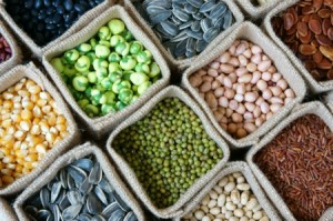 Collection of grain cereal seed bean agriculture product of Asia countries is healthy food nutrition eating and fibre food